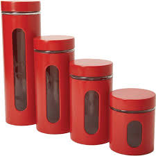 kitchen canister sets walmart anchor hocking 4 palladian canister set with window cherry