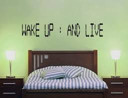 Bedroom Wall Decals For Couples Wake Up And Live Wall Decal By Geekerymade On Deviantart