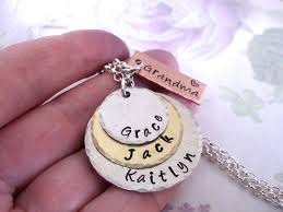 Grandparent Jewelry Gifts 109 Best Grandma Jewelry Images On Pinterest Hand Stamped