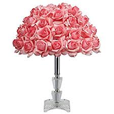 Pink Glass Desk Furnizone Table Lamp Rose Tree Lamp With Ac Adapter Flexible Pink