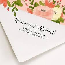 wedding invitations return address custom address st wood handle or self inking st return