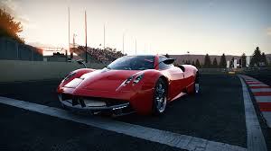 pagani huayra red pagani huayra overtaking the wind world of speed