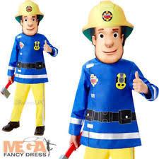 boys fireman sam costume book week firefighter job theme fancy