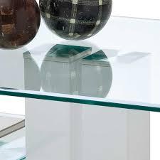 Wohnzimmertisch Transparent Glas Couchtisch Shines In Weiß Hochglanz Wohnen De