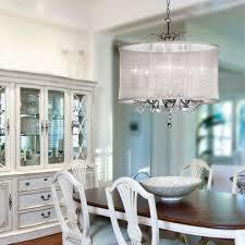 Dining Room Crystal Lighting On Luxury Drum Shade Crystal - Contemporary crystal dining room chandeliers