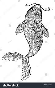 sketch fish beautiful ornament vector illustration stock vector