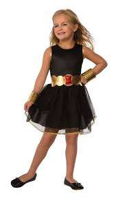 rubies marvel comics black widow children girls halloween costume