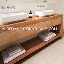 mobile bagno grezzo gallery of mobile bagno in legno massello mobilia la tua casa
