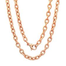 rose gold chain necklace images 18kt rose gold plated stainless steel chain necklace jpg