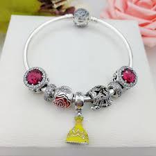 red charm bracelet images Pandora red charm bracelet beauty and beast JPG