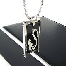 man titanium necklace images Man black pattern wolf pure titanium necklace pendant new jpg