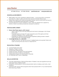 Resume Template For Real Estate Agents Sample Resume For Real Estate Agent Real Estate Cover Letter