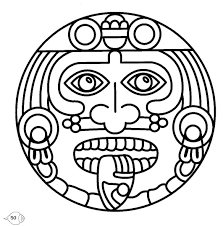 aztec coloring pages getcoloringpages com