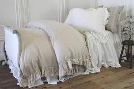 Linen Bed Covers - full bloom cottage