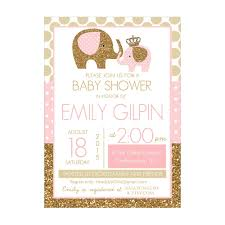 pink and gold baby shower invitations templates designs