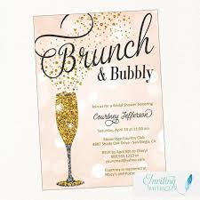 chagne brunch invitations 52 awesome bridal shower ideas