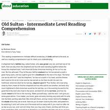 esl fairy tale reading comprehension old sultan fairy tale by