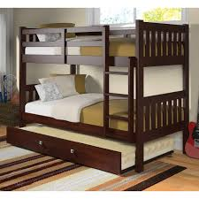 Bunk Beds With Trundle Donco Twin Over Twin Bunk Bed Dark Cappuccino Hayneedle