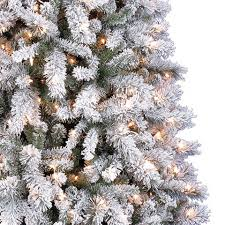 pre lit white vermont pine artificial tree 7 5