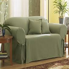 Loveseat Slipcovers With Two Cushions Sure Fit Cotton Duck Box Cushion Loveseat Slipcover U0026 Reviews