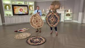 royal palace 3 u0027 x 3 u0027 round heritagemedalli handmade wool rug on