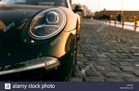 porsche car 2017 izmir turkey march 5 2017 head light of a black porsche car