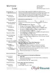 Business Management Resume Sample by Manager Resume Example