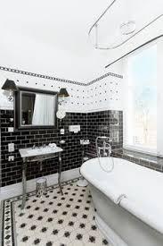 Black And White Bathroom Tile Design Ideas 35 Vintage Black And White Bathroom Tile Ideas And Pictures