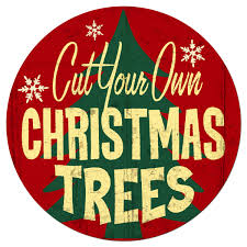 christmas trees cut your own steel holiday sign christmas signs
