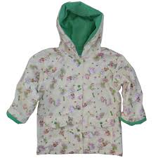 girls raincoat with powell craft garden fairy print