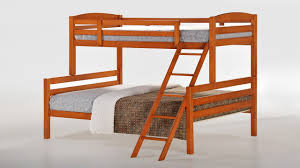 Single Top Double Bottom Wooden Bunk Bed Homegenies - Double top bunk bed