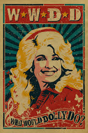 instereo007 dolly parton poster what would dolly do 12x18