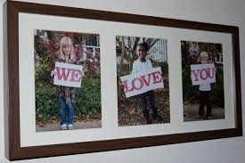 Poster Frame Ideas Cute Photo Frame Idea For Grandparents With Pictures Of Each Kid
