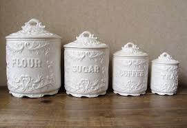 beige fleur de lis ceramic kitchen canisters set 3 by vintage ceramic kitchen canister sets umpquavalleyquilters com