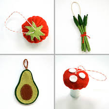 funnelcloud handmade felt food ornaments