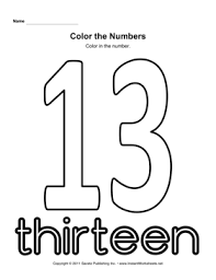 collections of color by number worksheets for kindergarten free