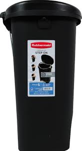 Small Waste Basket by Rubbermaid Premium Step On Trash Can 13 Gal Black With Metal