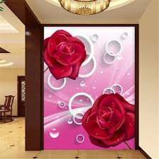 wallpaper bunga lingkaran beibehang kustom wallpaper mimpi mawar merah bunga lingkaran 3d