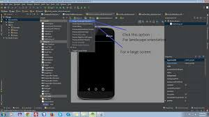 android studio dashboard tutorial android studio creating landscape layouts stack overflow