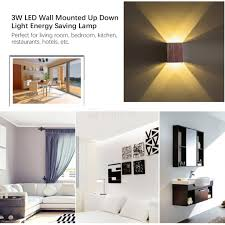 modern 3w led wall mounted up down light energy saving lamp for