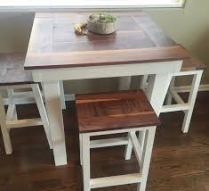 industrial farmhouse bar height kitchen table the in decor dining