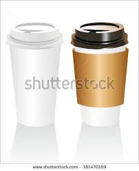 plastic coffee cup templates over white stock vector 161470169