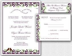 wedding invitation rsvp card u0026 return address labels template