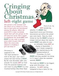 anti christmas game left right gift exchange christmas