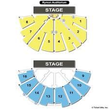 ryman seating map ryman auditorium seating charts