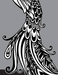 tribal peacock feather clipart