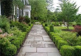 Walkway Garden Ideas The Landscaping Especially Shrubs On Each Side Of Walkway
