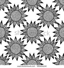 sunflower wrapping paper sunflower seamless pattern floral texture print stock vector