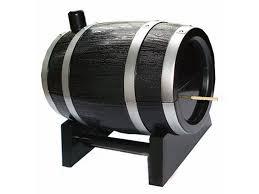 oak wine barrel type automatic toothpick bucket toothpick box