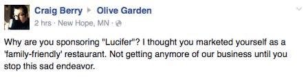 one million moms thinks olive garden loves satan the bitchy waiter